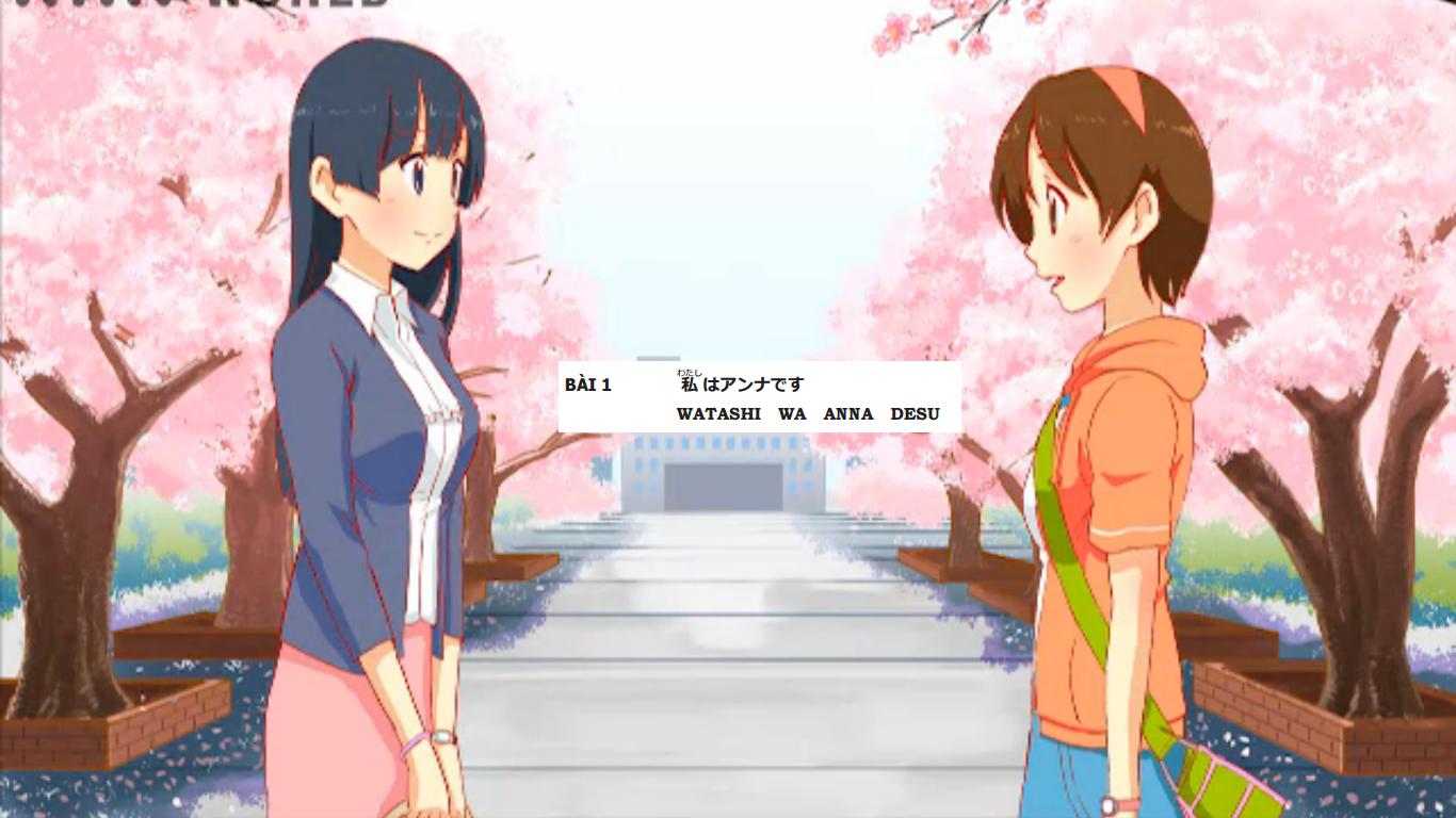 học tiếng Nhật bài 1